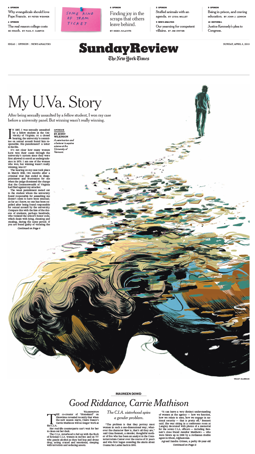 Sunday Review Cover: My U.Va. Story