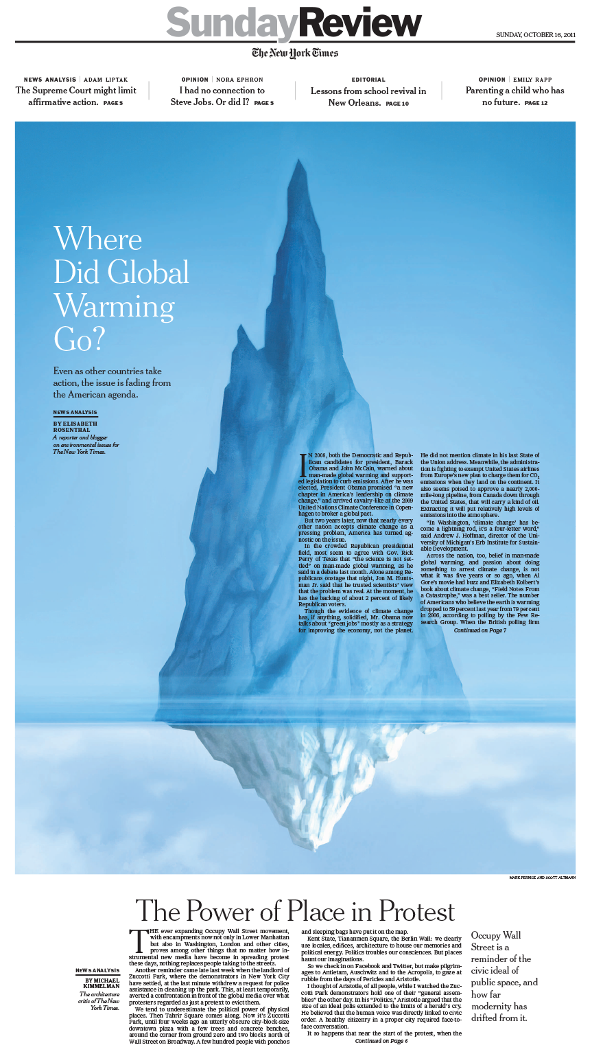 Sunday Review Cover: Where Did Global Warming Go?