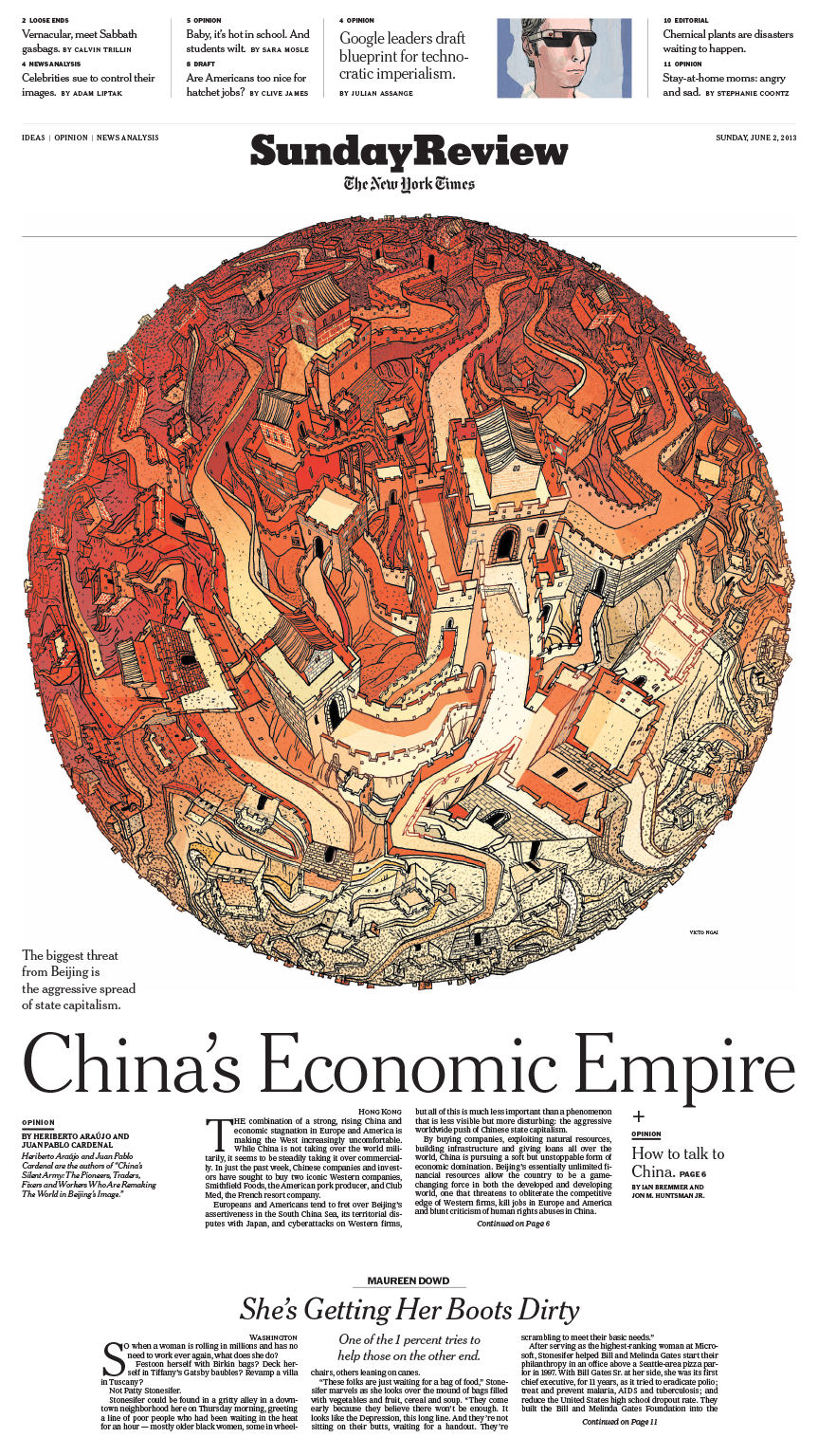 Sunday Review Cover: China's Economic Empire